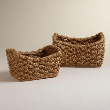Natural Ava Scoop Baskets